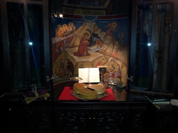 Θεία Λειτουργία με την Παρουσία Αγγέλου.